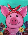 Polka Dot Pig Painting - Grandview