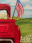Patriotic Truck Painting - Pasco